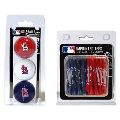 MLB St. Louis Cardinals Golf Ball and Golf Tee Pack