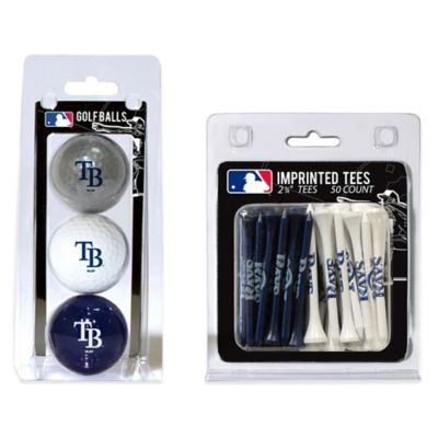 MLB Tampa Bay Rays Golf Ball and Golf Tee Pack