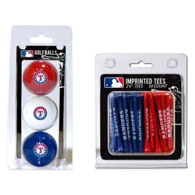 MLB Texas Rangers Golf Ball and Golf Tee Pack