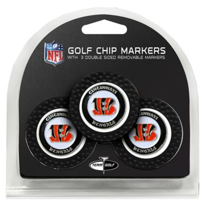 NFL Cincinnati Bengals Golf Chip Ball Markers (Set of 3)