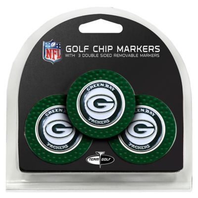 NFL Green Bay Packers Golf Chip Ball Markers (Set of 3)