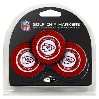 NFL Kansas City Chiefs Golf Chip Ball Markers (Set of 3)