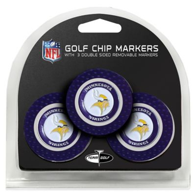 NFL Minnesota Vikings Golf Chip Ball Markers (Set of 3)