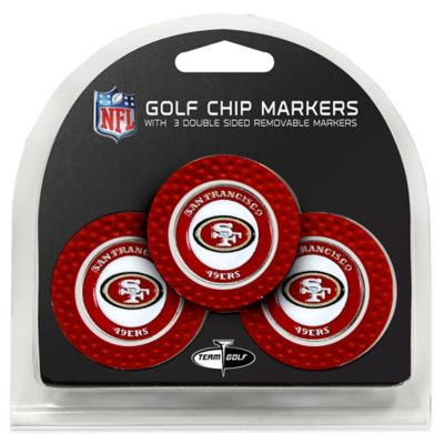 NFL San Francisco 49ers Golf Chip Ball Markers (Set of 3)