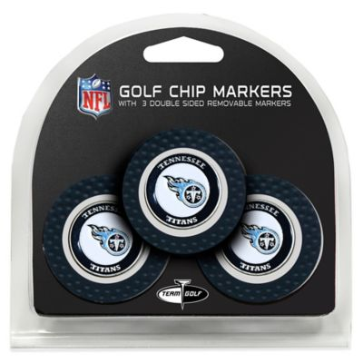 NFL Tennessee Titans Golf Chip Ball Markers (Set of 3)