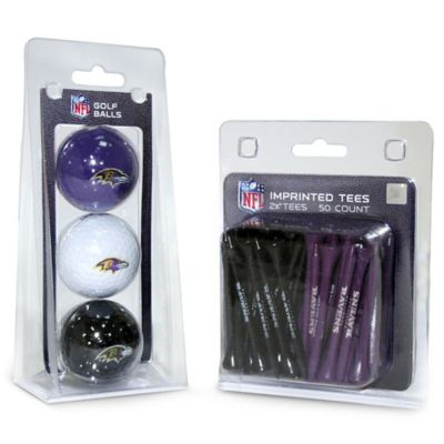NFL Baltimore Ravens Golf Ball and Tee Pack