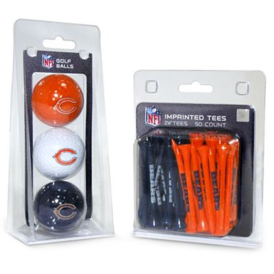 NFL Chicago Bears Golf Ball and Tee Pack