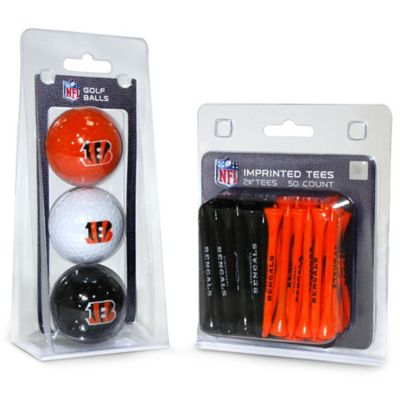 NFL Cincinnati Bengals Golf Ball and Tee Pack