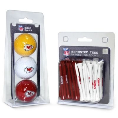 NFL Kansas City Chiefs Golf Ball and Tee Pack