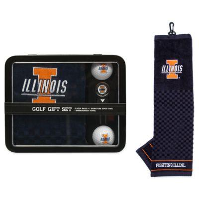 University of Illinois Golf Ball Gift Set