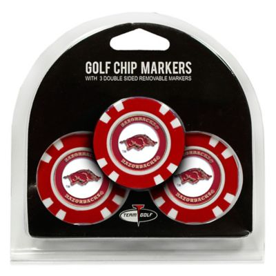 NCAA University of Arkansas Golf Chip Ball Markers (Set of 3)