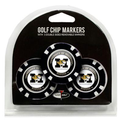 NCAA University of Missouri Golf Chip Ball Markers (Set of 3)