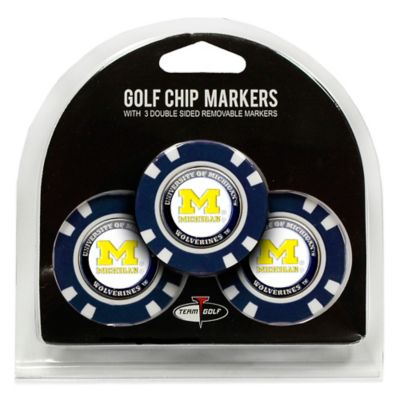 NCAA University of Michigan Golf Chip Ball Markers (Set of 3)