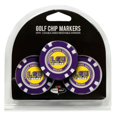 NCAA LSU Golf Chip Ball Markers (Set of 3)