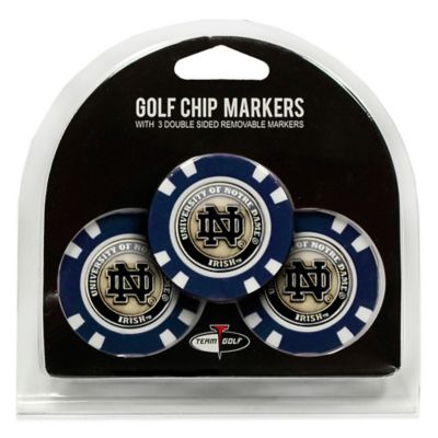 NCAA University of Notre Dame Golf Chip Ball Markers (Set of 3)