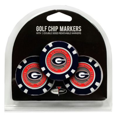 NCAA University of Georgia Golf Chip Ball Markers (Set of 3)