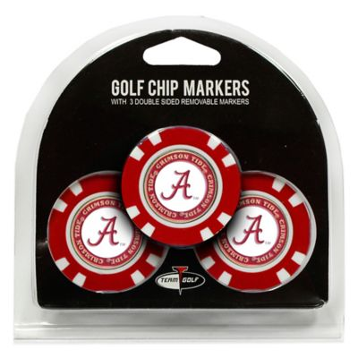 NCAA University of Alabama Golf Chip Ball Markers (Set of 3)