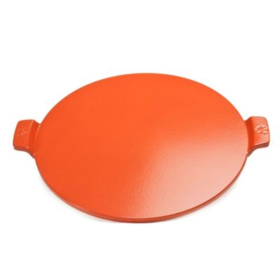 Pizzacraft™ Cordierite 14.5-Inch Round Glazed Pizza Stone with Handles in Red