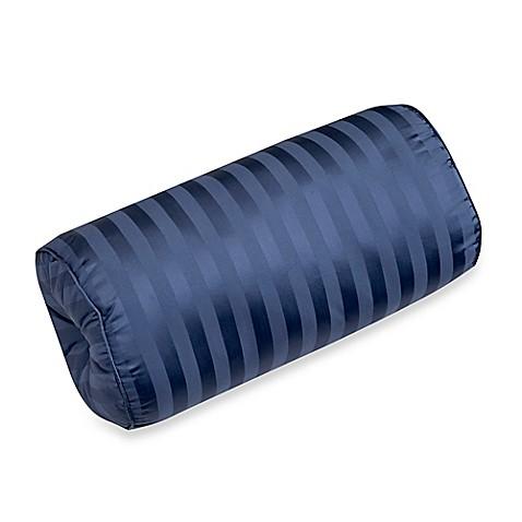 Throw Pillow Bolster : 500-Thread-Count Damask Stripe Bolster Throw Pillow - BedBathandBeyond.com