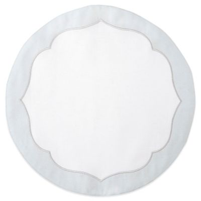 Waterford® Linens Cassia Round Placemat in White/Blue