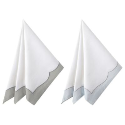 Waterford® Linens Cassia Napkin in White/Blue