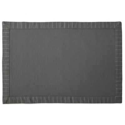 Waterford® Linens Rigato Placemat in Charcoal