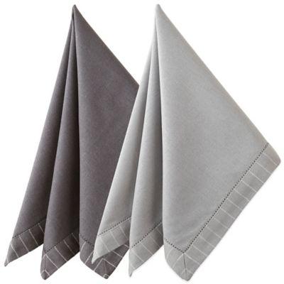 Waterford® Linens Rigato Napkin in Platinum