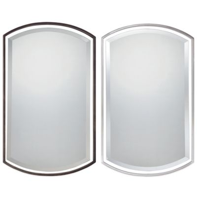 Quoizel® Breckenridge 35-Inch x 21-Inch Mirror in Brushed Nickel