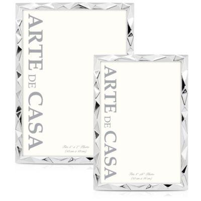Arte de Casa Montes 5-Inch x 7-Inch Picture Frame in Silver