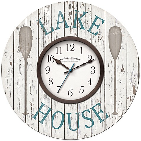 Firstime 174 Lake House Wall Clock Www Bedbathandbeyond Com