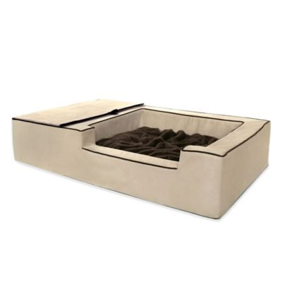 Micro Suede Majesty Digging Pet Bed in Beige