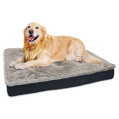 Orthopedic Mink Quilted Mattress Style Pet Bed in Charcoal