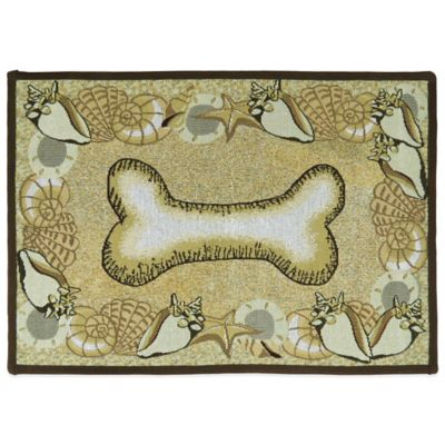 PB Paws by Park B. Smith Seashell Bone 27-Inch x 19-Inch Pet Mat in Multi