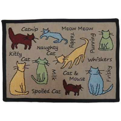 PB Paws by Park B.Smith Cat Show 27-Inch x 19-Inch Pet Mat in Linen