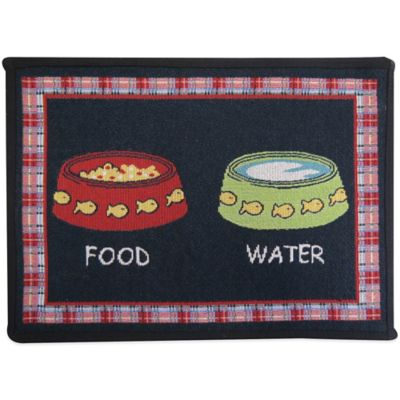 P.B. Paws by Park B. Smith Kitty Brunch Multicolor Tapestry Pet Mat