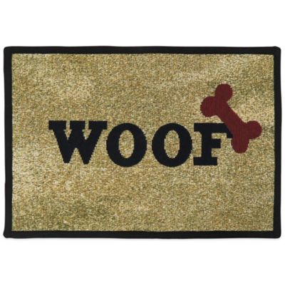 PB Paws by Park B.Smith Woof and Bone 19-Inch x 13-Inch Pet Mat in Sand
