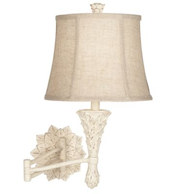 Pacific Coast® Lighting Artichoke Wall-Mount Swing Arm Lamp in Beige