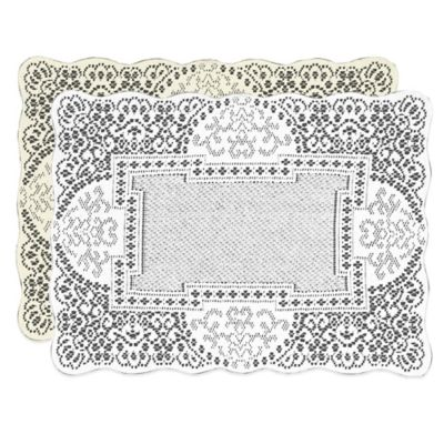 Heritage Lace® Canterbury Classic Placemat in White