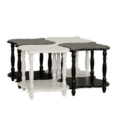 Pulaski Salem Accent Tables with Shelves (Set of 4)