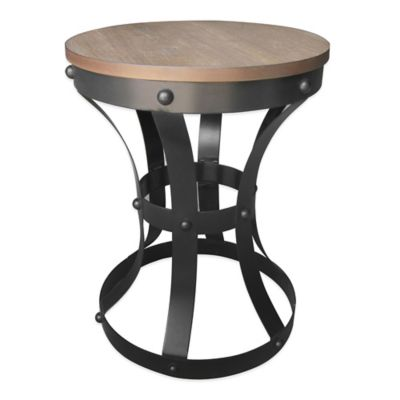 Rustee Rustic Metal with Wood Top Table