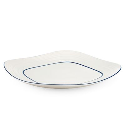 Mikasa® Swirl Square Banded Platter in Blue