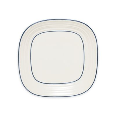 Mikasa® Swirl Square Banded Blue Dinner Plate