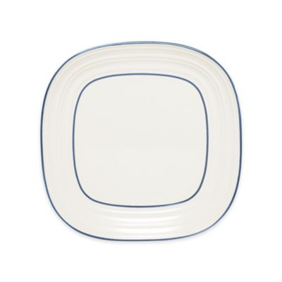 Mikasa® Swirl Square Banded Blue Salad Plate