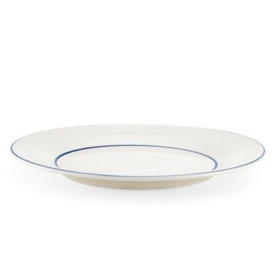 Mikasa® Swirl Banded Round Platter in Blue