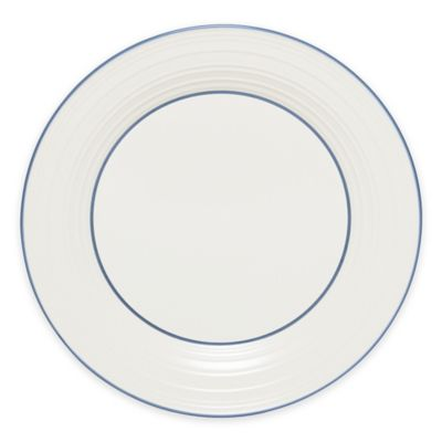 Mikasa® Swirl Banded Dinner Plate in Blue
