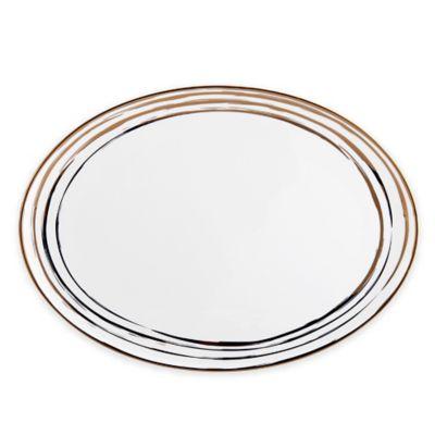Mikasa® Swirl Oval Platter in Gold