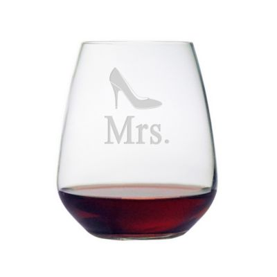 "Susquehanna Glass ""Mr. Bowtie"" Stemless Wine Glass"