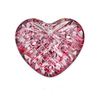 Waterford® Giftology Heart Paperweight in Pink