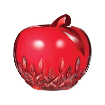 Waterford® Apple Paperweight Collectible in Red