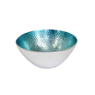 Pampa Bay Coastal Small Round Bowl in Teal (Set of 3)